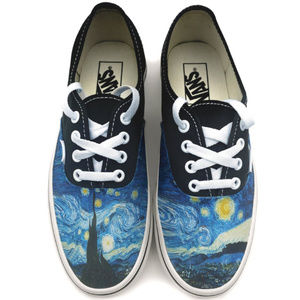 Van Gogh Starry Night Authentic Custom Vans